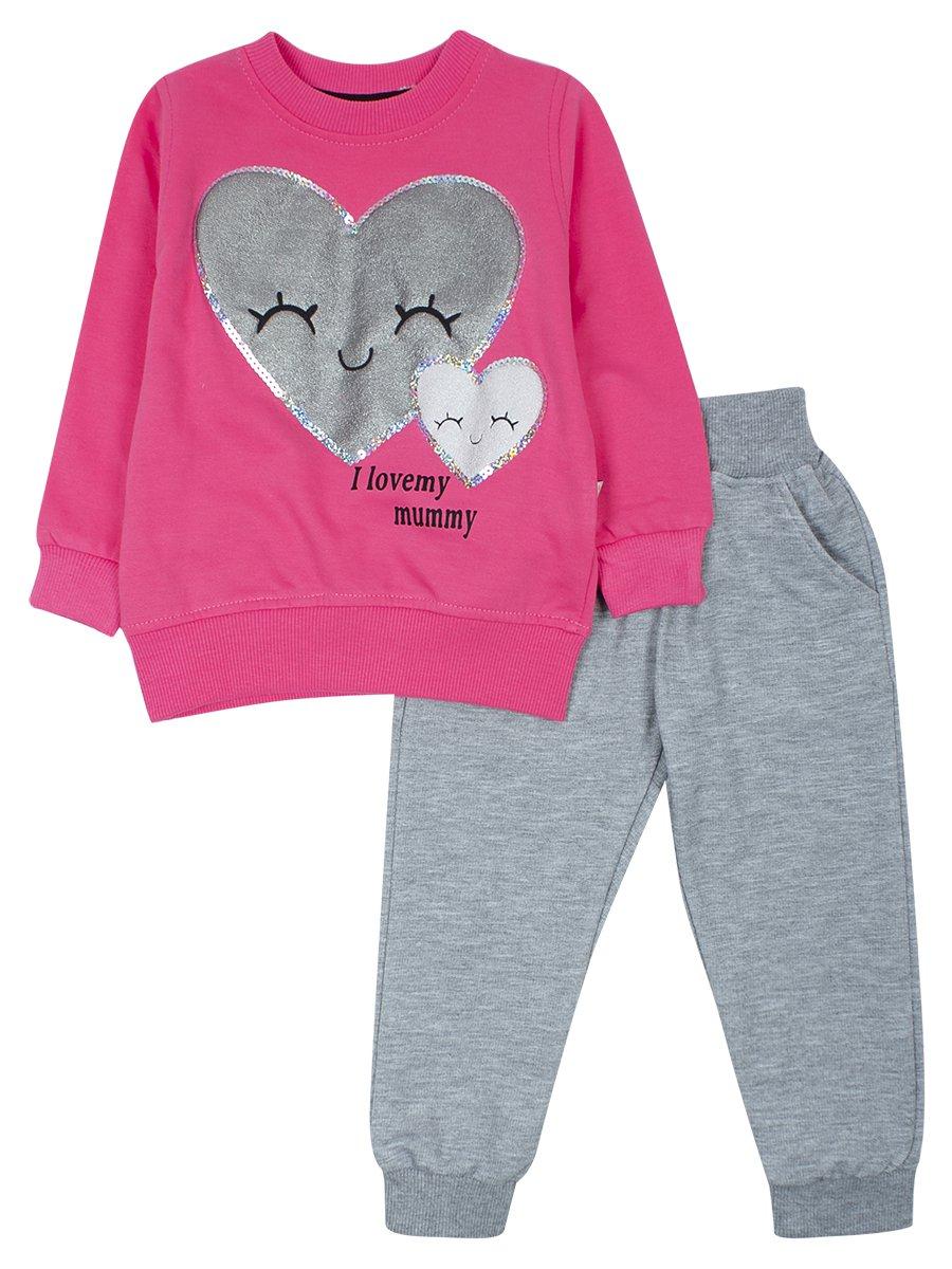 Комплект для девочки, цвет: розовый