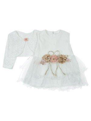 Комплект для девочки платье и болеро.