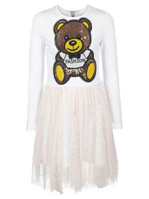 Платье из кулирки с лайкрой и гипюра