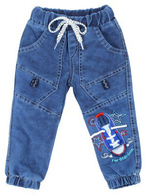 Брюки джинсовые на махровой подкладке для мальчика