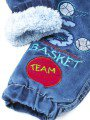 Брюки джинсовые на махровой подкладке для мальчика, цвет: деним