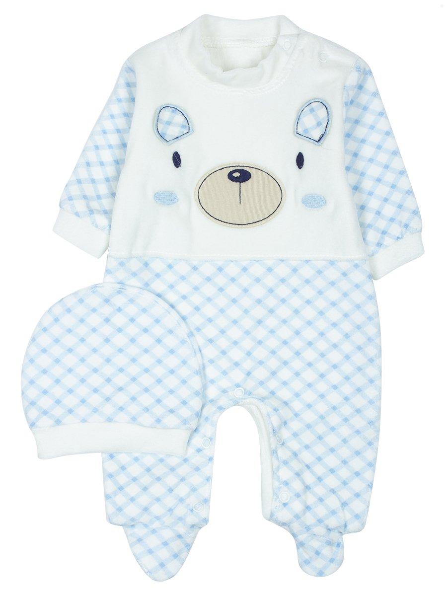 Комбинезон велюровый детский, цвет: голубой