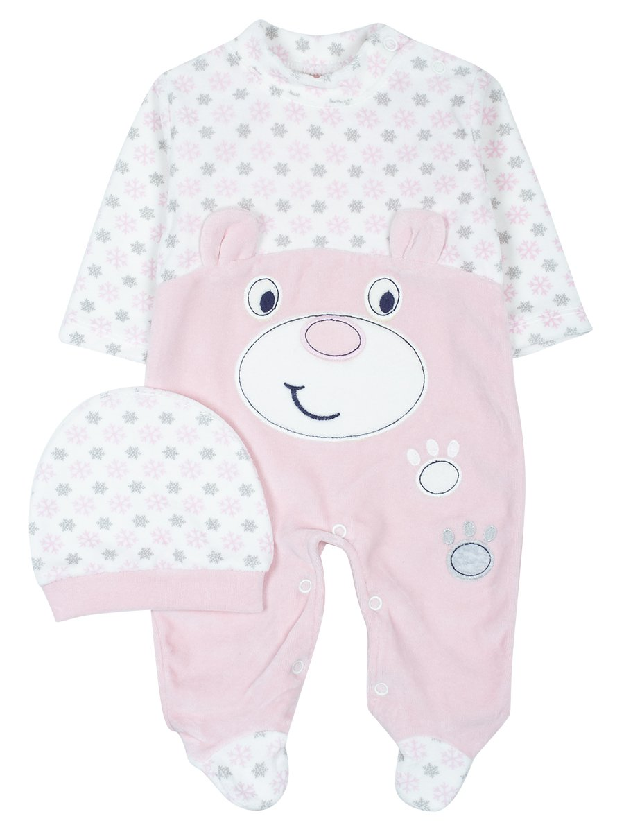 Комбинезон велюровый детский, цвет: светло-розовый