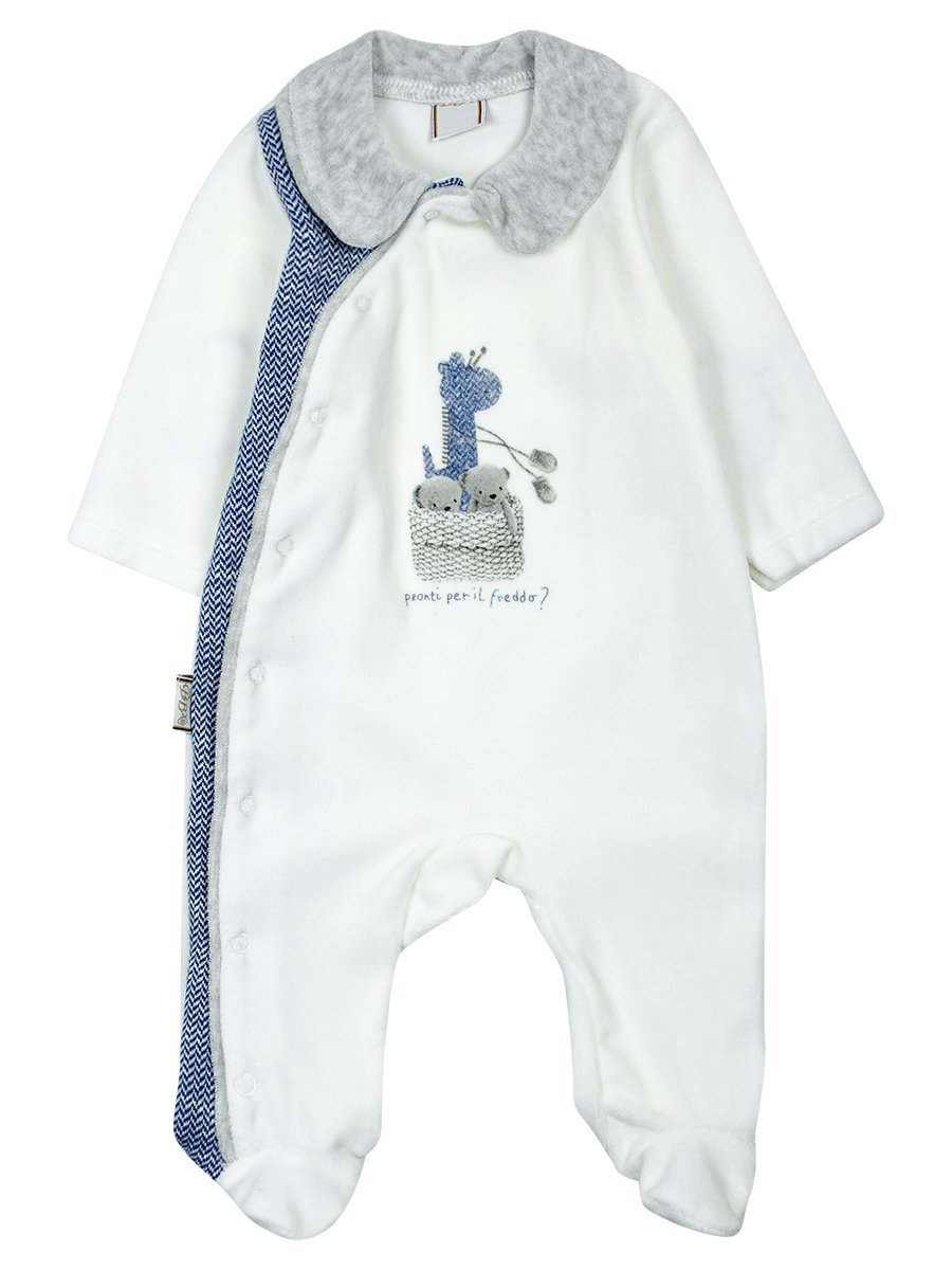 Комбинезон велюровый детский, цвет: синий