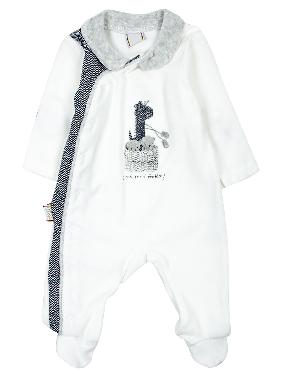 Комбинезон велюровый детский, цвет: темно-синий