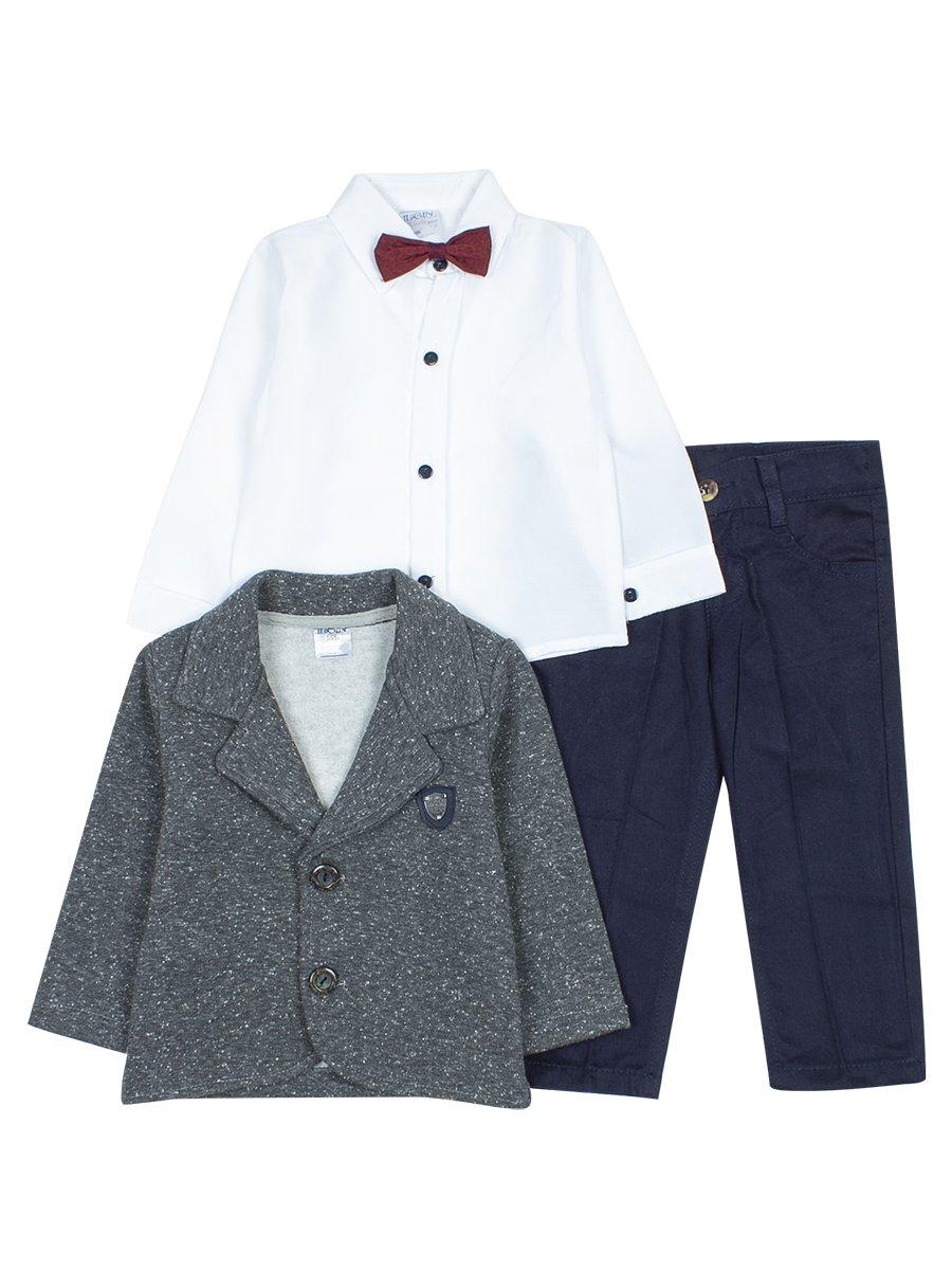 Комплект для мальчика, цвет: темно-серый