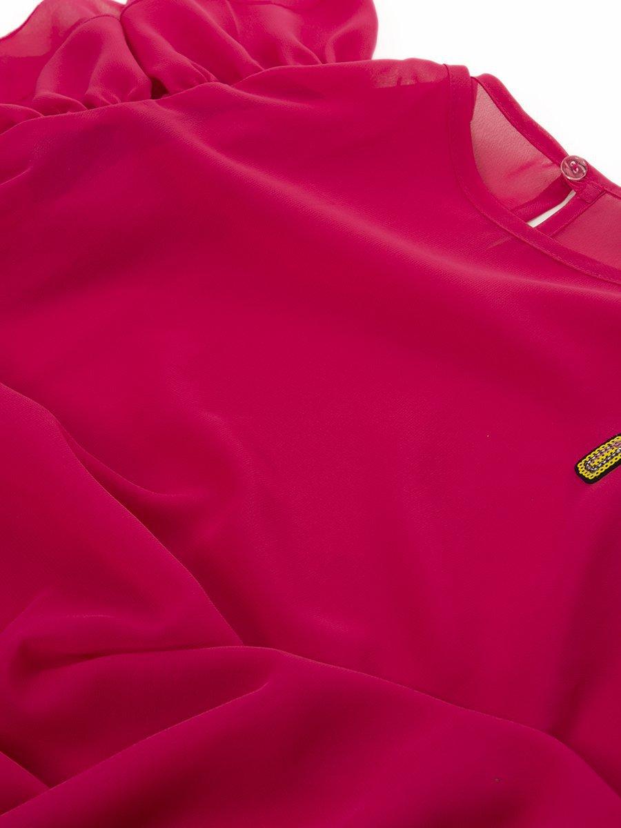 Блузка,Топ прямого силуэта, цвет: красный