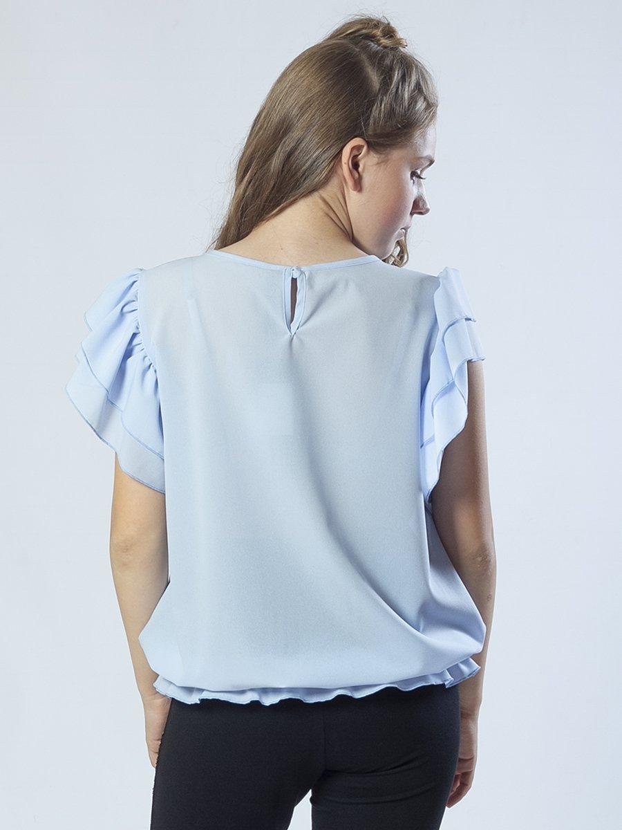 Блузка текстильная из крепшифона, цвет: голубой