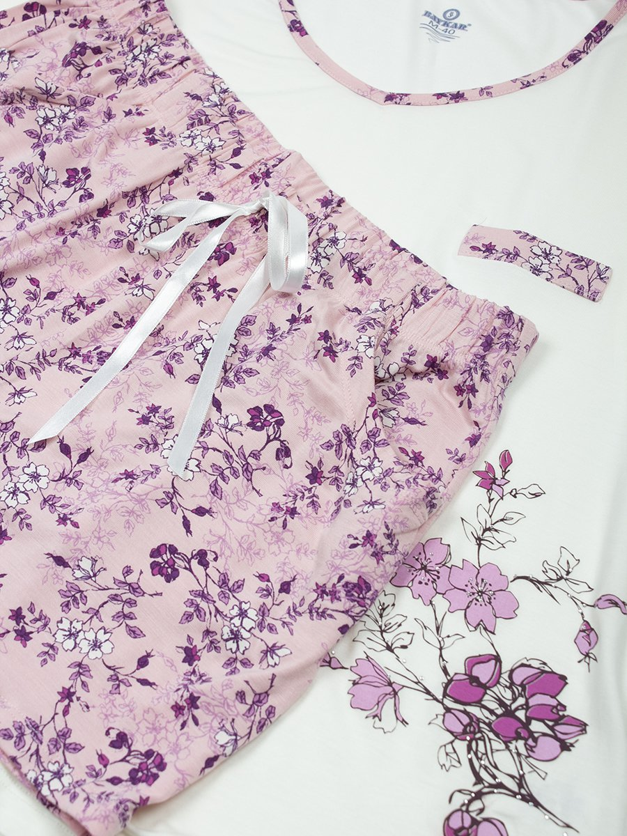 Пижама женская, цвет: молочный