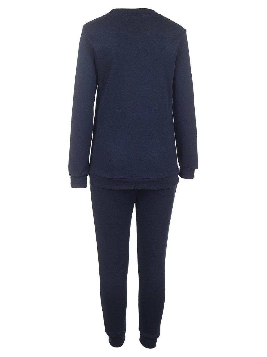Комплект для мальчика: свитшот и штаны, цвет: темно-синий