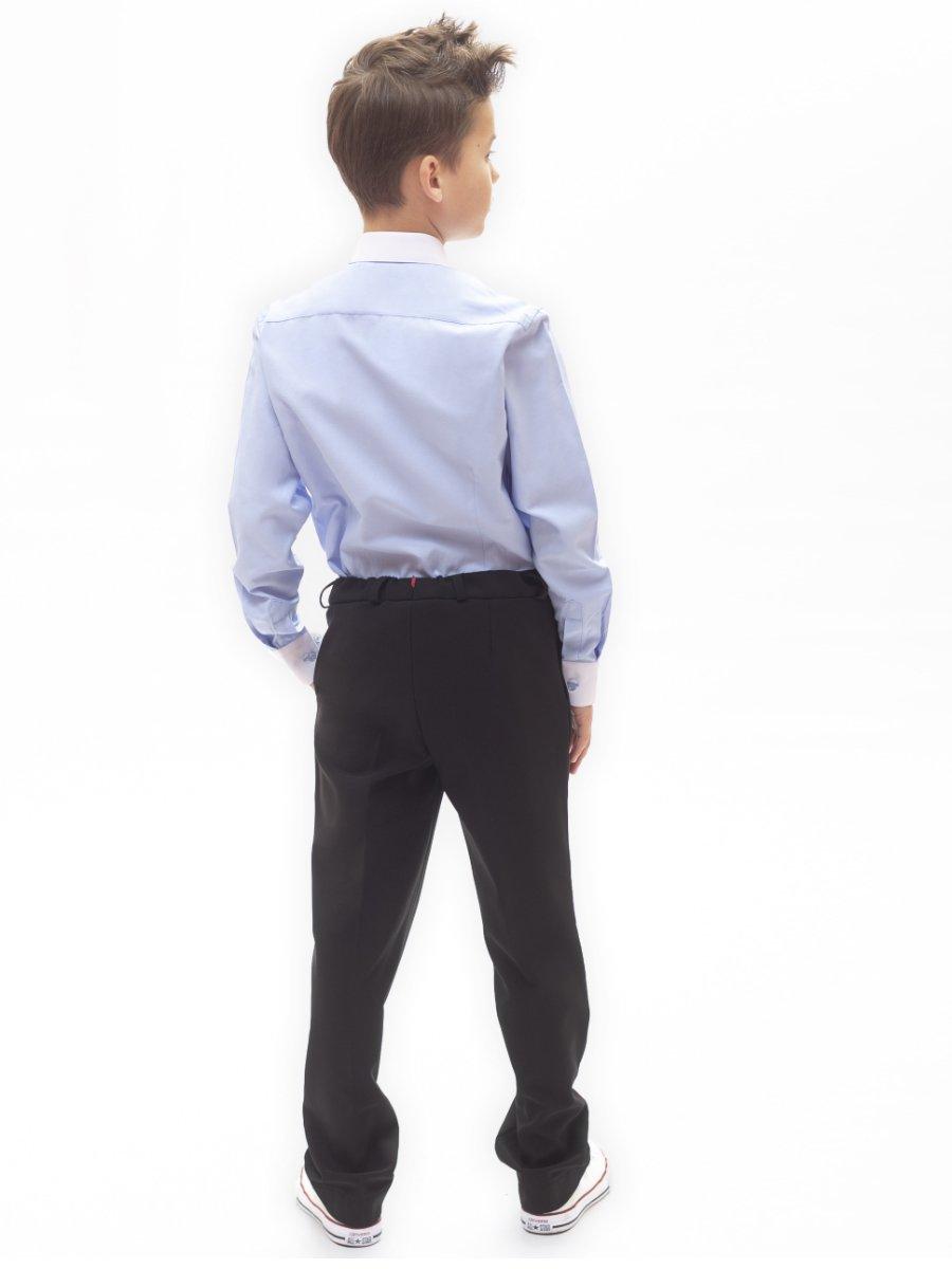 Брюки зауженные со средней посадкой для мальчика, цвет: черный