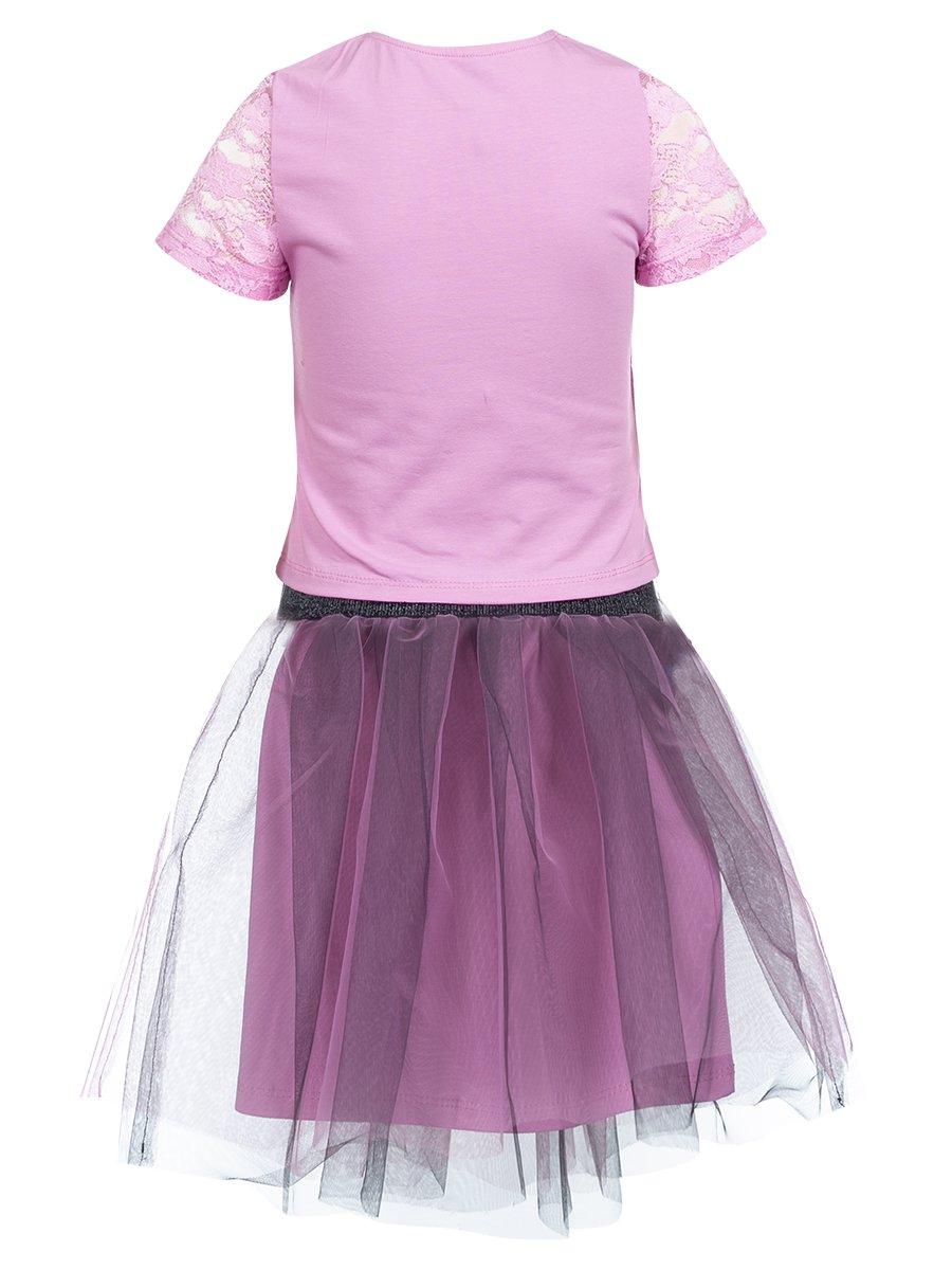 Комплект:блузка и юбка прямого силуэта