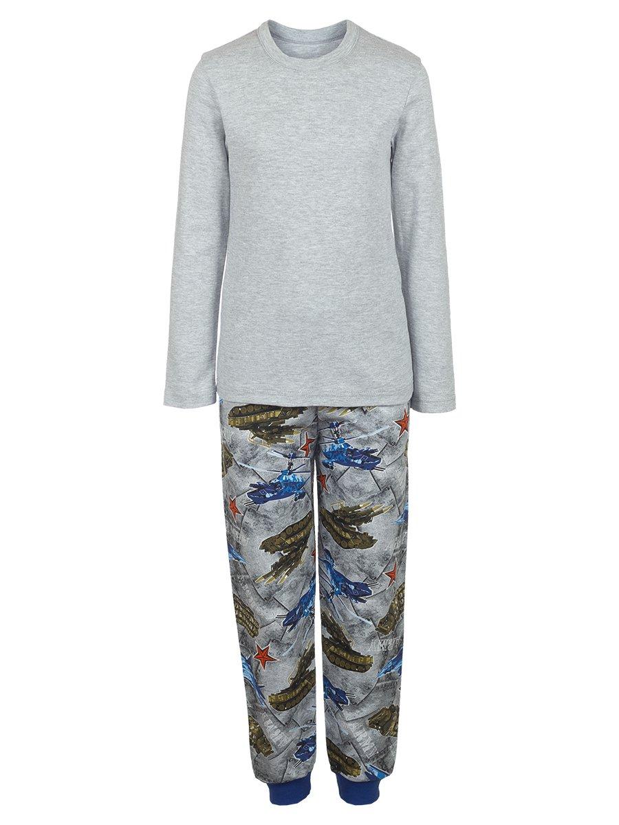 Комплект для мальчика 3-х предметный: жилет, штаны лонгслив, цвет: серый меланж