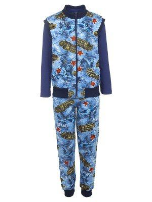 Комплект для мальчика 3-х предметный: жилет, штаны лонгслив