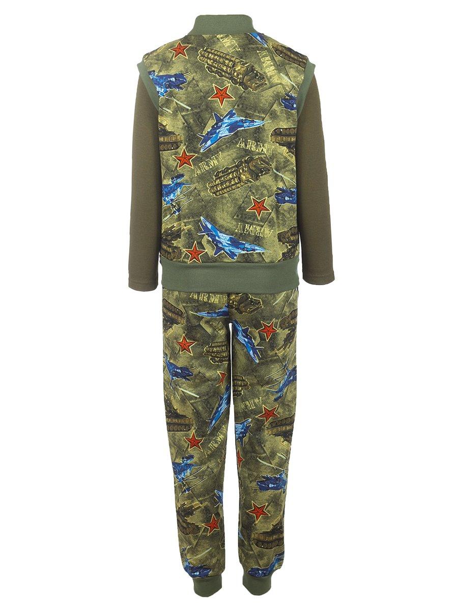 Комплект для мальчика 3-х предметный: жилет, штаны лонгслив, цвет: хаки