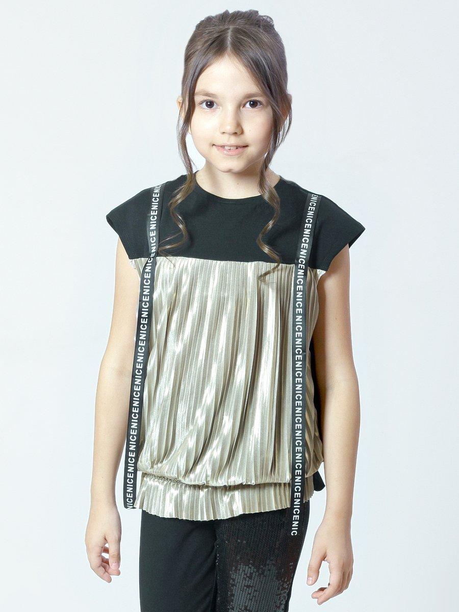 Блузка прямого силуэта, цвет: золотой