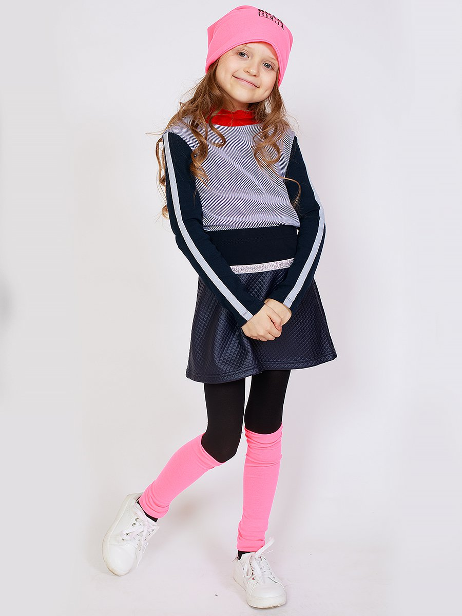 Водолазка для девочки, цвет: полоска