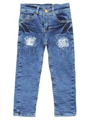 Брюки джинсовые на махровой подкладке для девочки
