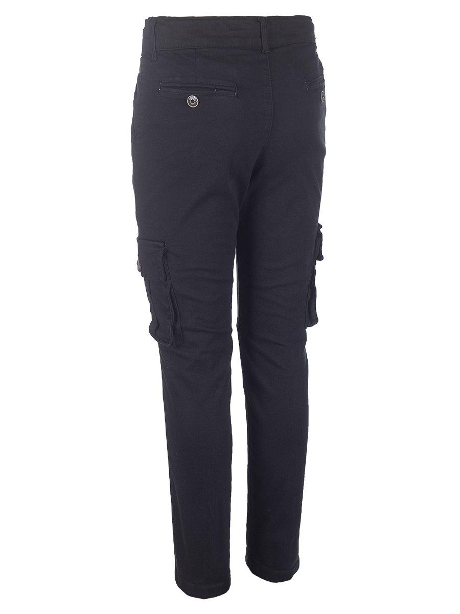 Брюки джинсовые для мальчика, цвет: черный