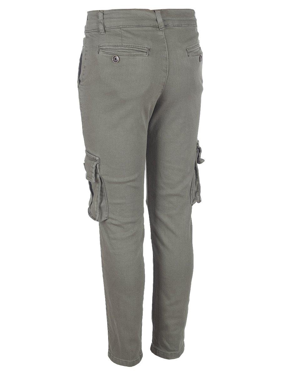 Брюки джинсовые для мальчика, цвет: хаки