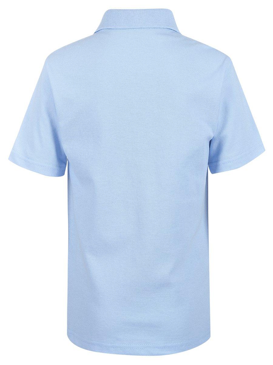 Поло для мальчика, цвет: голубой
