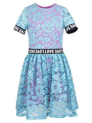 Платье из кулирки и кружевного полотна