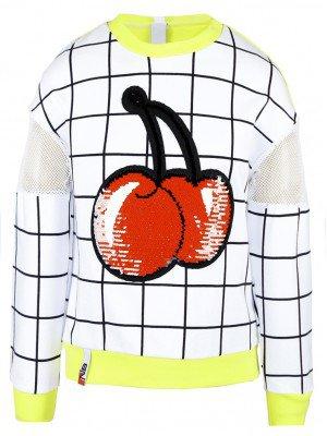 Свитшот (джемпер) для девочки из футера 2-х нитки и сетки