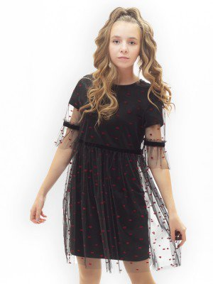 Платье приталенное с юбкой на сборке