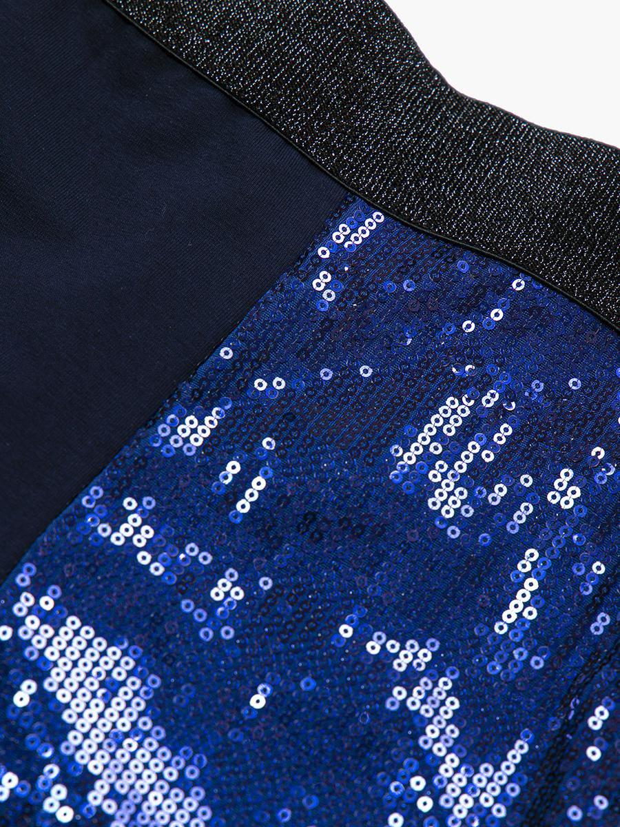 Лосины для девочки, цвет: темно-синий