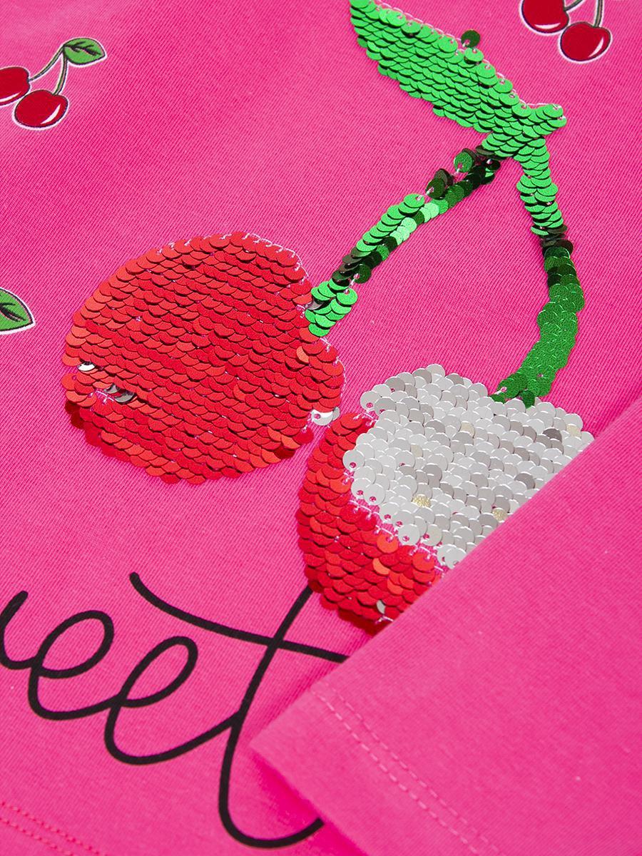 Лонгслив для девочки, цвет: малиновый