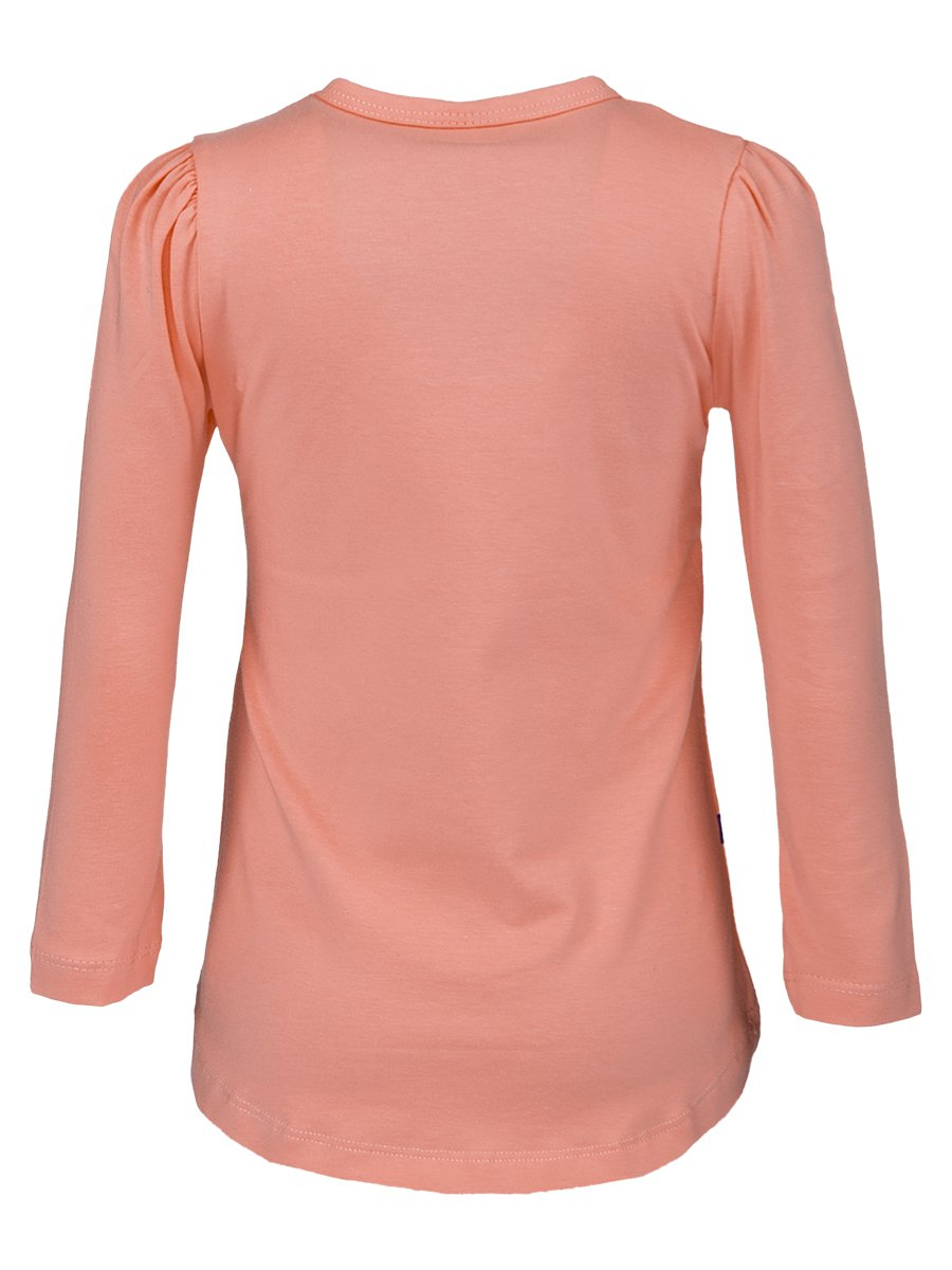 Лонгслив для девочки, цвет: персиковый