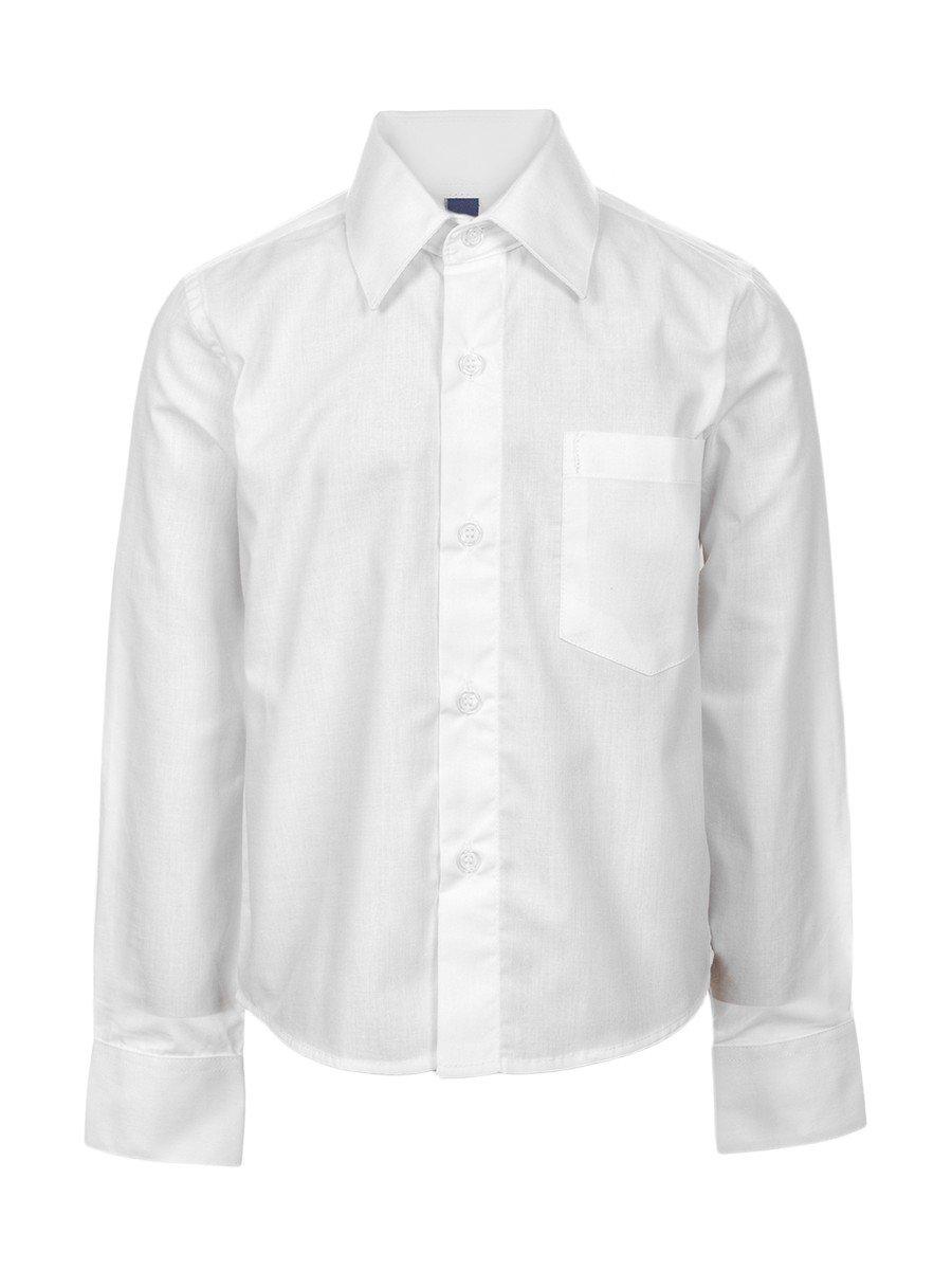 Сорочка прямого силуэта для мальчика, цвет: белый