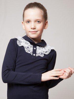 Блузка трикотажная из кулирки с лайкрой