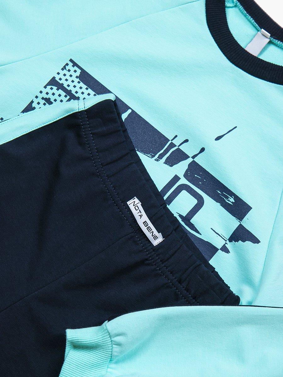 Костюм спортивный: свитшот оверсайз и леггинсы с лампасами, цвет: мятный