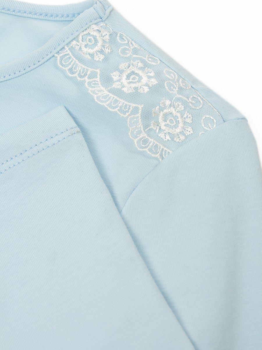 Блуза трикотажная для девочки, цвет: голубой