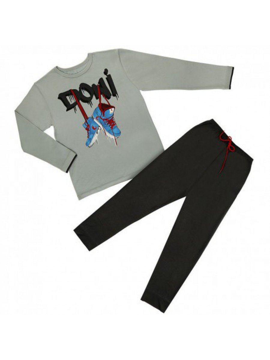 Пижама для мальчика, цвет: серый