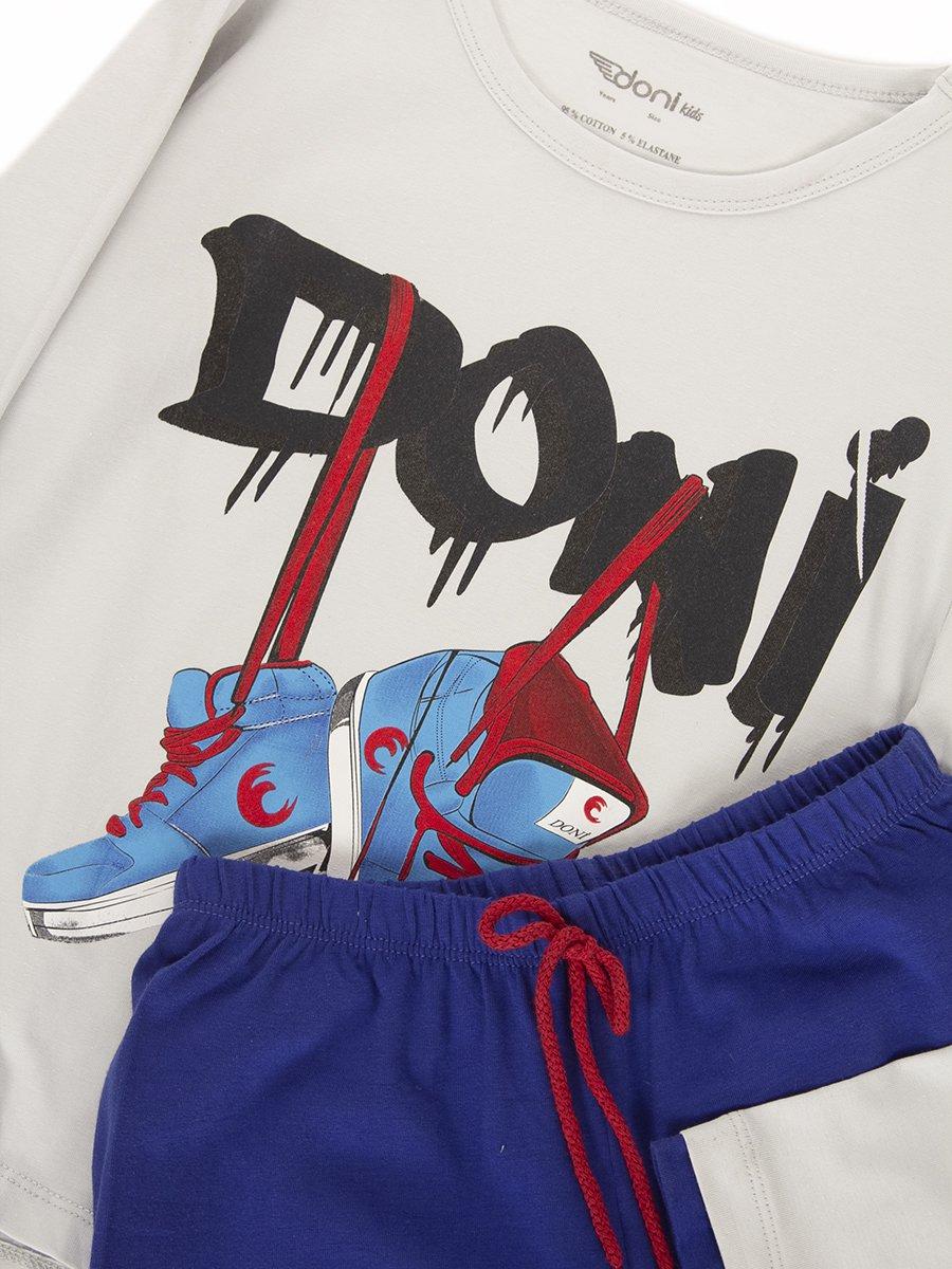 Пижама для мальчика, цвет: светло-серый