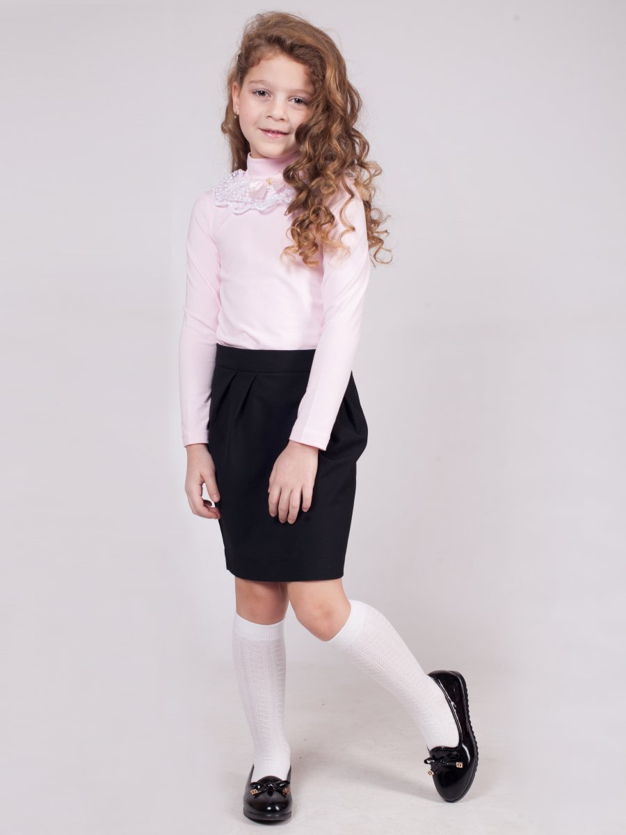 Блузка трикотажная из кулирки с лайкрой, цвет: светло-розовый