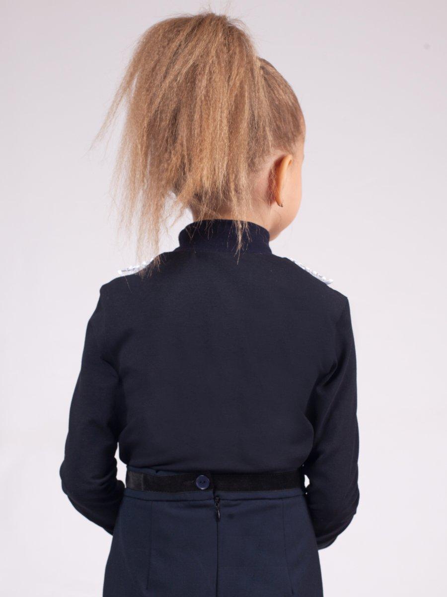 Блузка трикотажная из кулирки с лайкрой, цвет: темно-синий