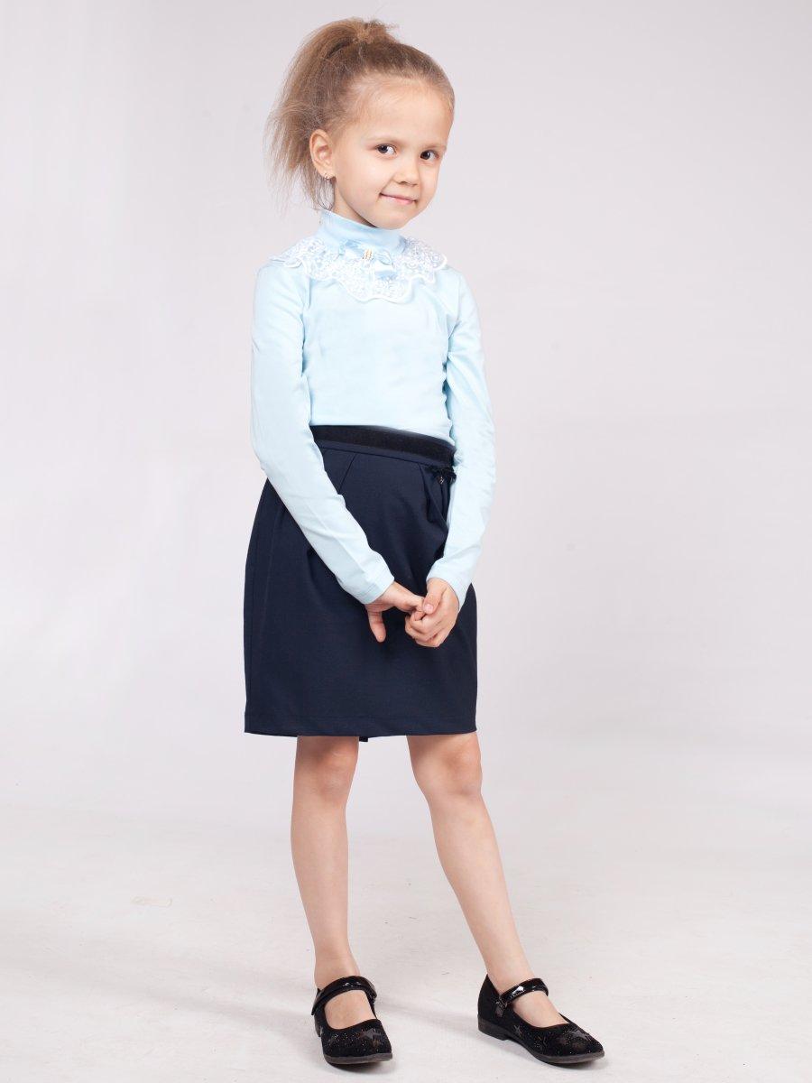 Водолазка для девочки, цвет: голубой