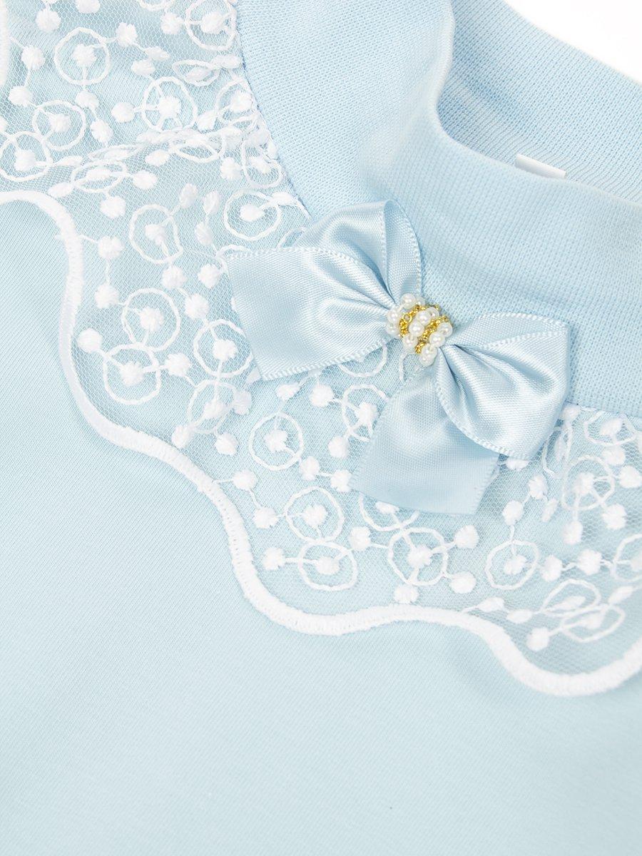 Блузка трикотажная из кулирки с лайкрой, цвет: голубой