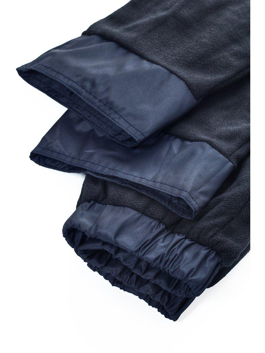 Брюки из плащевой ткани на подкладке из флиса (девочка), цвет: синий
