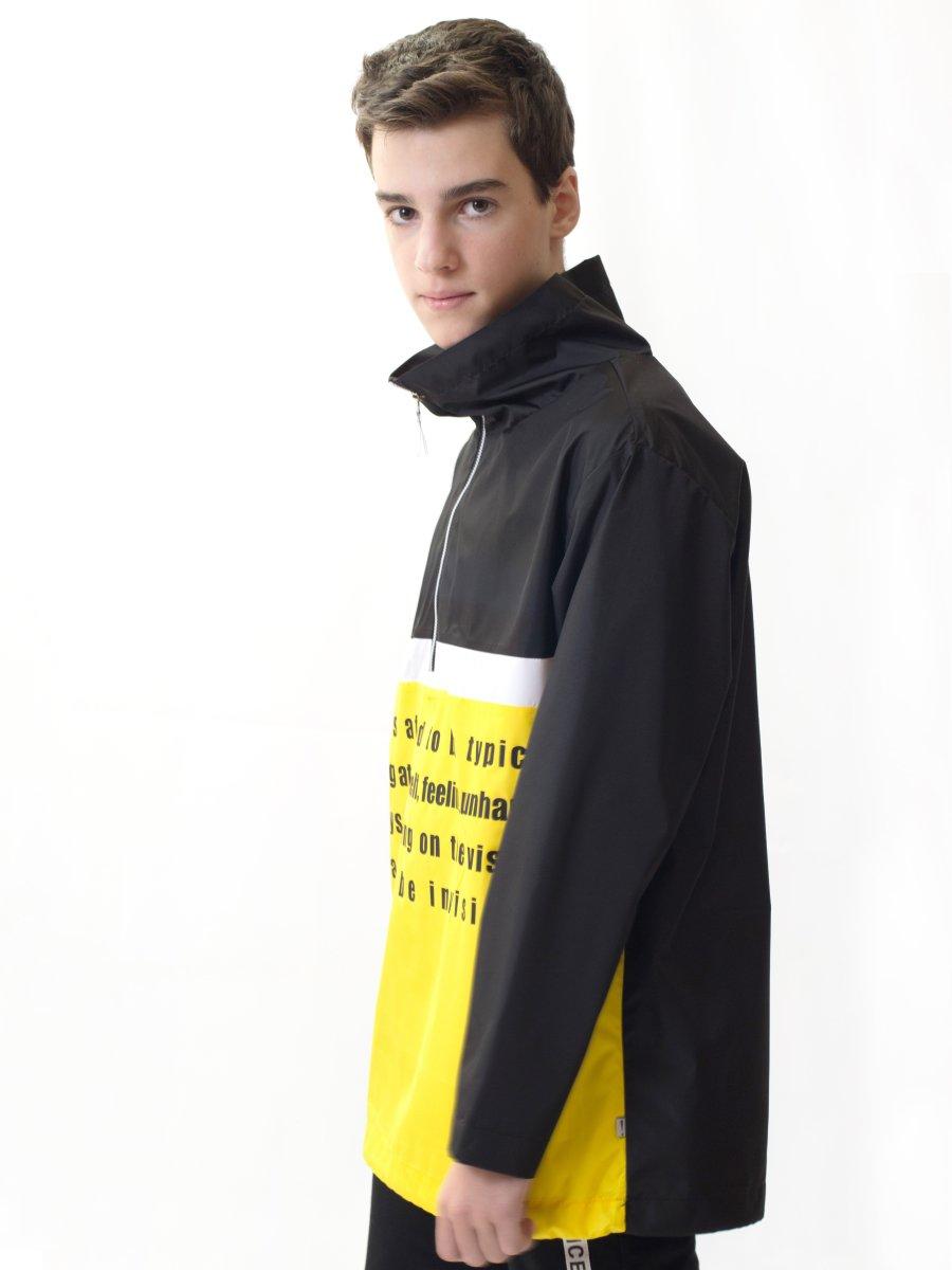 Анорак из плащевой ткани, цвет: черный