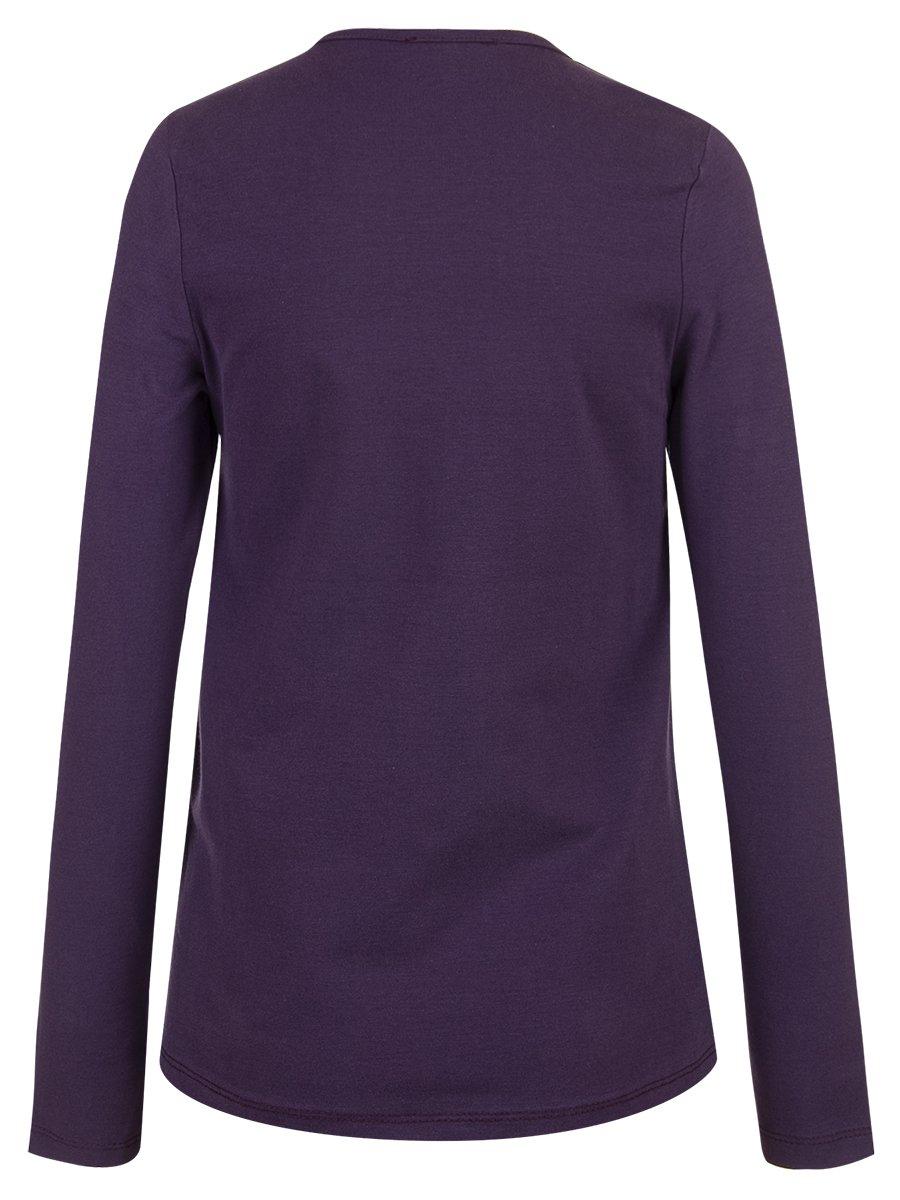 Лонгслив для девочки, цвет: фиолетовый