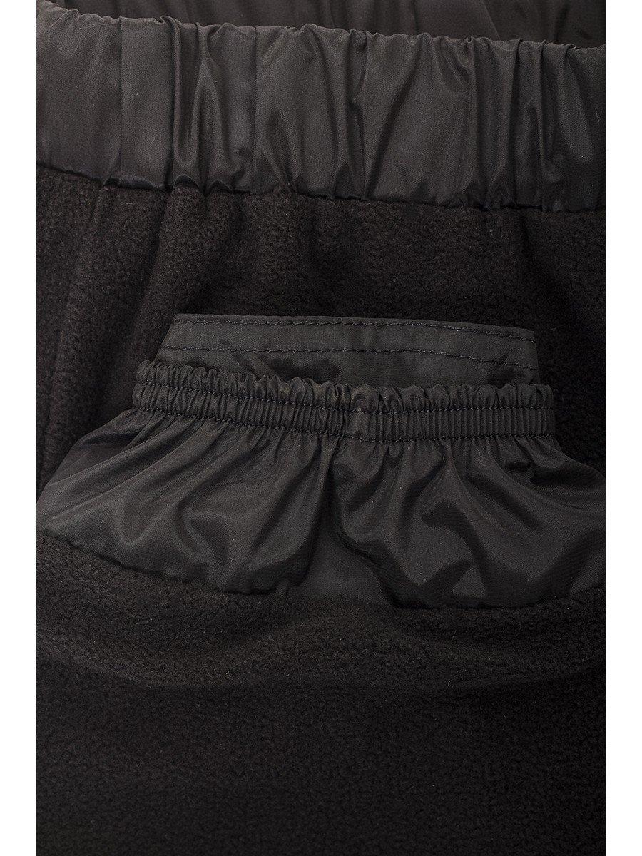 Брюки из плащевой ткани на подкладке из флиса (девочка), цвет: черный