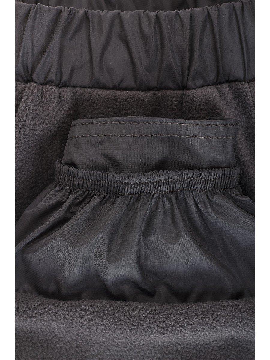 Брюки из плащевой ткани на подкладке из флиса (мальчик), цвет: серый