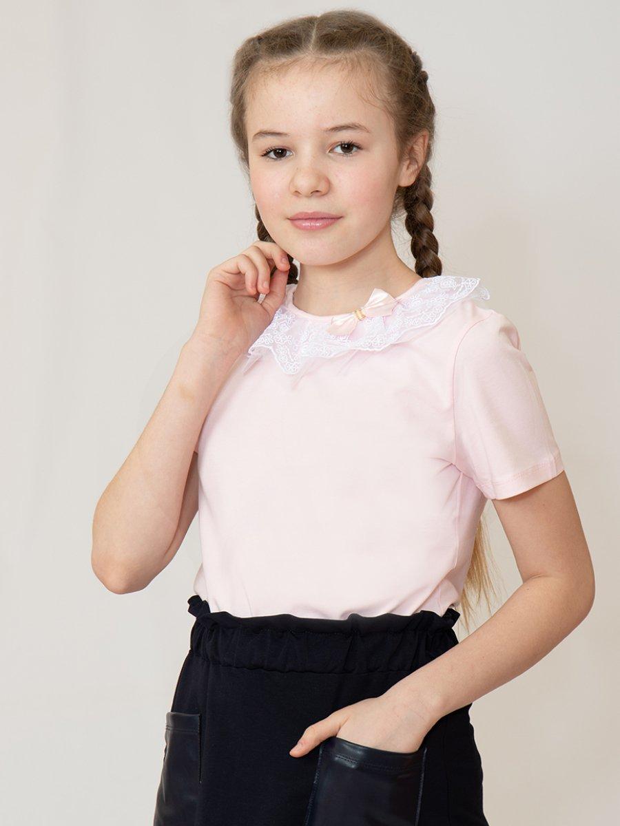 Блузка прилегающего силуэта, цвет: светло-розовый