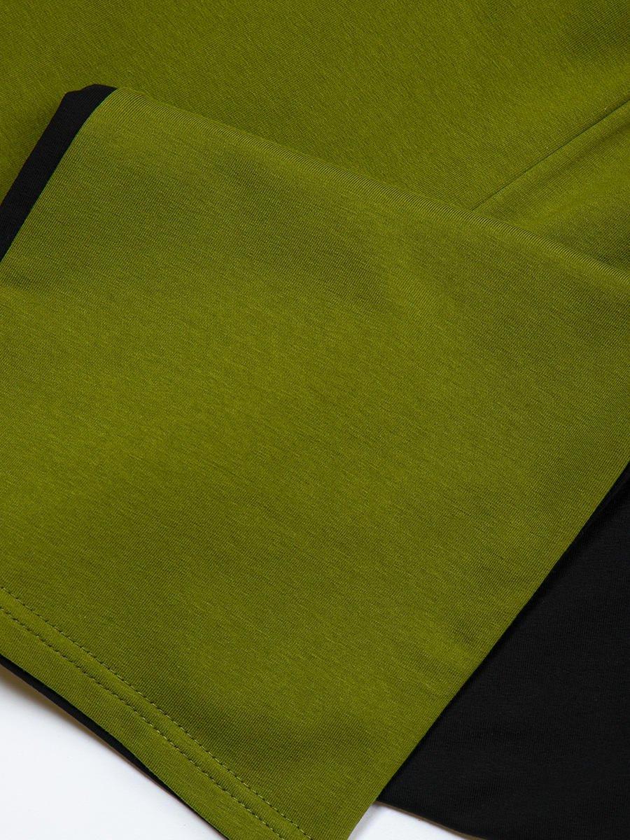 Брюки кюлоты со средней посадкой для девочки, цвет: темный хаки