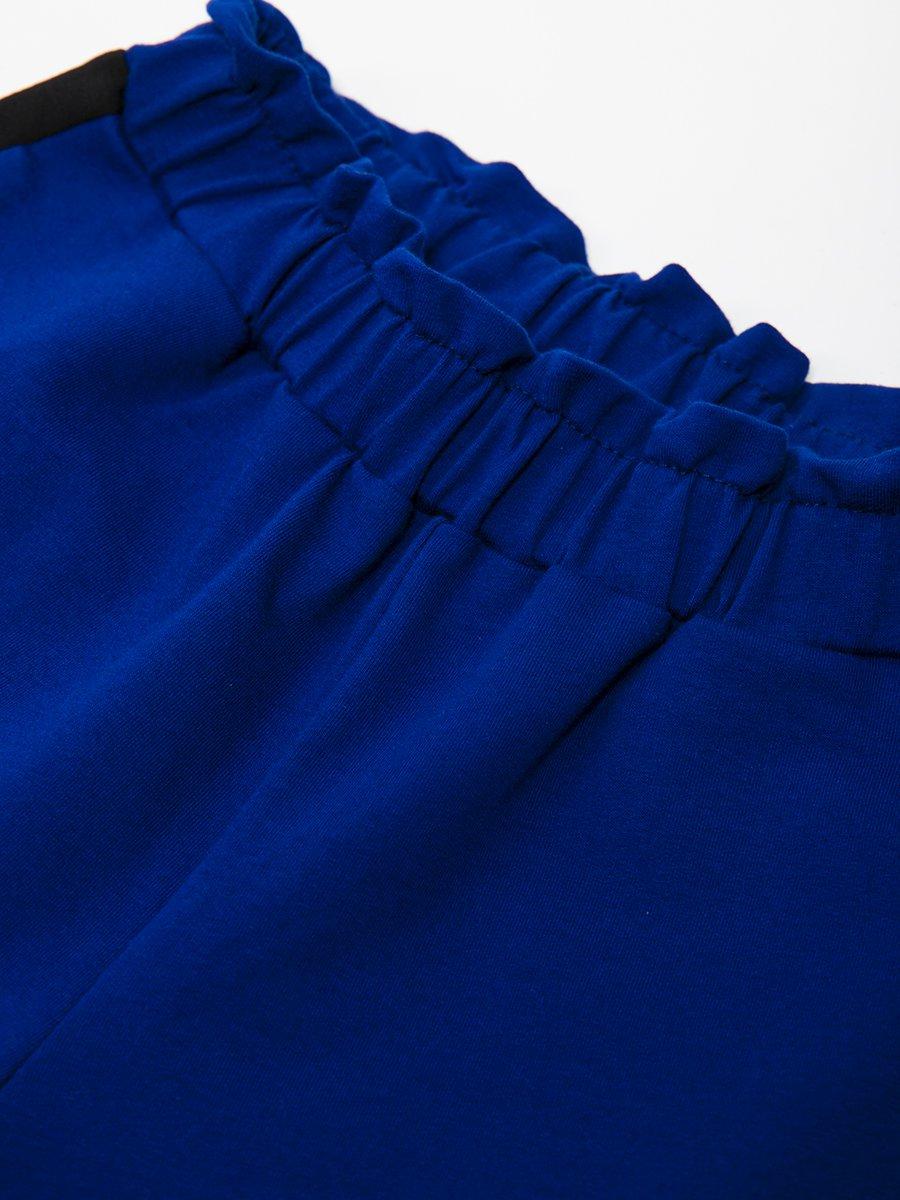 Брюки кюлоты со средней посадкой для девочки, цвет: синий