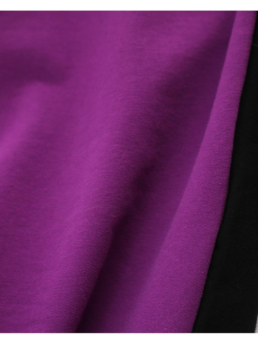 Брюки кюлоты со средней посадкой для девочки, цвет: сиреневый